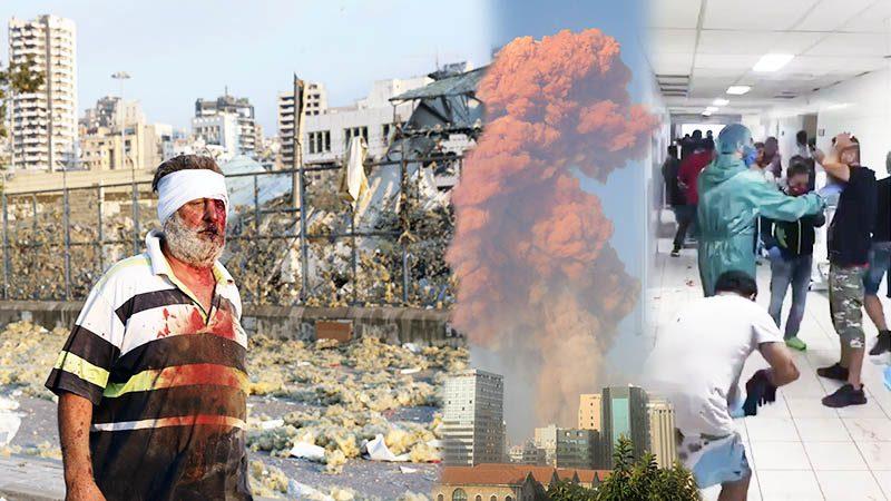 ดั่งวันสิ้นโลก โคตรระเบิดกวาดกรุงเบรุต โรงพยาบาลหวั่นล่ม คนเจ็บทะลุ4,000คน